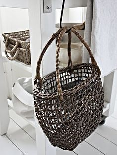 baskets stand out beautifully against white