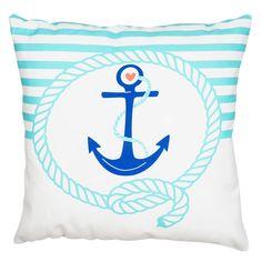 Dolce Home  Nautica Kare Yastık Marine- Mavi : 39,90 TL   evmanya.com