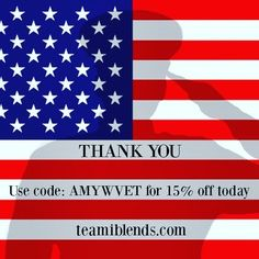 Thank you from the bottom of my heart to all of the brave men and women who have served so that I could live freely in the greatest nation in all the land.  May Good bless you and keep you safe! The good folks @teamiblends are offering a little sale today in honor of the holiday. Take 15% off any order $29.95 or more. Use code AMYW10 at checkout. #veteransday #thankyouteami #teamiblends #teamicommunitea #naturalweightloss #curbappetite #fightcravings #boostmetabolism #organic #looseleaftea…