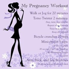Simple pregnancy safe work out plan. Should have done this last time. I'll be glad I pinned this for when baby #2 comes.