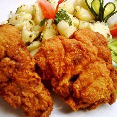 Joghurtban pácolt rántott csirkecomb Recept képpel - Mindmegette.hu - Receptek Cauliflower, Bacon, Food And Drink, Meat, Chicken, Vegetables, Yogurt, Cauliflowers, Vegetable Recipes