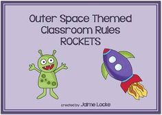 """Make your classroom, and behavior management, """"out of this world"""" with these cute classroom rules signs.  The 3 rules for my own classroom are included and there is a blank rocket so you can customize it to fit your needs.If your classroom also has an Outer Space theme, be sure to check out my whole packet of outer space resources and ideas: www.teacherspayteachers.com/Product/Outer-Space-Classroom-Theme-Packet-300928"""