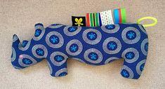 Rhino Bleu - fait main en Afrique du Sud - 100% coton by MathildeAndCo on Etsy