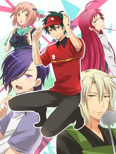 Pixiv Id Hataraku Maou-sama! I Love Anime, Awesome Anime, All Anime, Me Me Me Anime, Manga Anime, Anime Art, Blue Exorcist, Black Butler, Hetalia