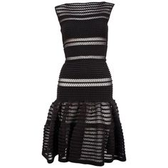 AZZEDINE ALAIA black lace knit dress | From a collection of rare vintage evening dresses and gowns at https://www.1stdibs.com/fashion/clothing/evening-dresses/