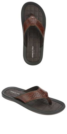 586b3faf488b Sandals 11504  New - Kenneth Cole New York Men S Leather Flip Flops Sandals  Brown - Pick Size -  BUY IT NOW ONLY   13.95 on  eBay  sandals  kenneth   leather ...