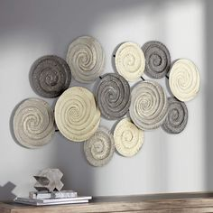 Spiral Circles 49 And One Half Inch Wide Painted Metal Wall Art Metal Wall Decor, Diy Wall Art, Iron Wall Art, Circle Metal Wall Art, Balloon Garland, Circle Design, Metallic Paint, Wall Art Designs, Wall Sculptures