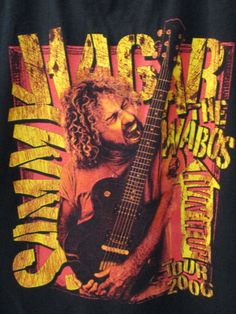 Sammy-Hagar-T-Shirt-Tour-Concert-2006-with-The-Wabos-Live-it-UP-2XL-Black