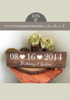 Custom wood wedding signs from @DesignsbyRio Shop Here. http://naturaldesignsbyrio.com