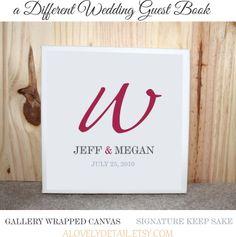 wedding canvas as a guest book!