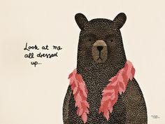 Bear dress up boa [SB0380] | Posters | størblends