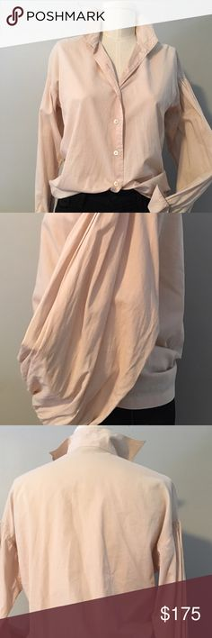 Dries van Noten blush poet sleeve blouse size 36 Amazing statement sleeve blouse/shirt from Dries Van Noten. Size EUR 36, 2-4 US. Mannequin is a size 0. Great condition, slight wrinkles on cuffs and collar from washing. Dries Van Noten Tops Button Down Shirts