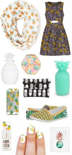 Cute fruit summer trend: Pineapple Print!