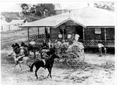 Gold escort leaving Normanton,Queensland in circa 1900. Qld Police Museum.