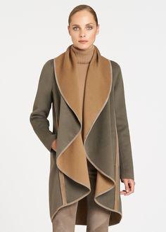 Two-Tone Double-Faced Reversible Lucinda Coat - Coats - Women   Lafayette 148 New York