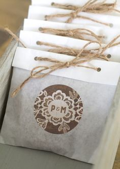 Cute wedding favor packaging ideas!