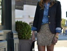 <play down my gold sequins skirt