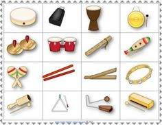 Music lessons for kids. Music games | Instrument Bingo Untuned Percussion. ♫ CLICK through to read more or PIN for later! ♫ #musiceducation
