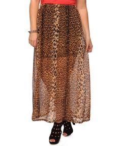 Cute on so I bought it. Animal print sheer maxi skirt over body con skirt. Forever 21+