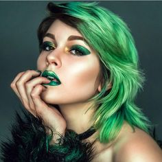 "3,913 Likes, 7 Comments - Vegan + Cruelty-Free Color (@arcticfoxhaircolor) on Instagram: "" Dragon Lady @sarahmcgbeauty slaying us in green  #arcticfoxhaircolor"""