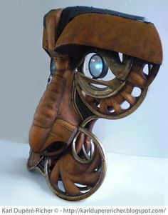 Alchimiste sculpture by Karl Dupéré-Richer  #sculpture #steampunk #reclycledart