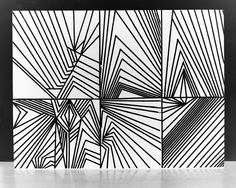 Sharp, precise lines and points. Really like how sharp and jagged, bold but still simple.