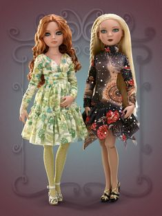 Woeful Black Dress & Woeful Green Dress-  Small gifts from Ellowyne's favorite THRIFT SHOP Each Thrift Shop separate is crafted of the highest quality fabrics and trims and created especially for Ellowyne and her friends - and each designer piece comes packaged separately. This pretty dress is perfect for walks through the city, line dancing lessons, or staying home and sighing.