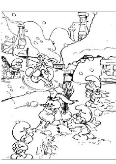 Activity The Smurf Coloring Pages
