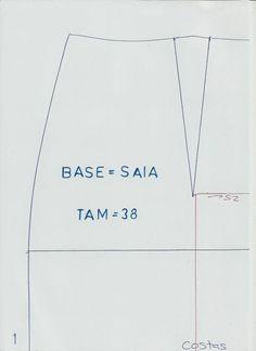 Existem moldes base que não podem faltar na página por essa razão hoje vou publicar o molde base de saia grátis. O molde base é a primeira etapa do...