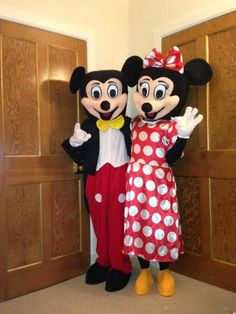 MICKEY u0026 MINNIE MOUSE CHARACTER COSTUME HIRE MINNIE MOUSE £35 hire plus deposit MICKEY MOUSE £35 hire plus deposit TWO CHARACTERS £60 hu2026 | Childrenu2026 & MICKEY u0026 MINNIE MOUSE CHARACTER COSTUME HIRE MINNIE MOUSE: £35 hire ...