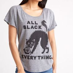 Order the All Black Everything Dolman T-shirt for your alternative t-shirt collection. Find more fashion inspiration and fashion accessories at Apollo Box! Drinking Black Coffee, Cat Drinking, Apollo Box, Storage Stool, All Black Everything, Shaggy, Cat Lover Gifts, Printed Tees, Heather Grey