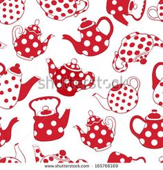 s red and white patchwork pattern. Vector seamless  background. by Amalga, via Shutterstock