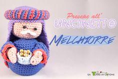 Schema Presepe all'uncinetto #7: Re Magio Melchiorre