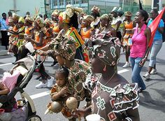 Emancipation Day celebrations - African desendants commemorate the abolition of slavery with dancing,singing ,drumming and parade
