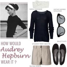 Who doesn't love Audrey's style. I need a black boatneck to wear with my shorts