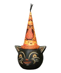 Take a look at this Owl Hat Cat Figurine on zulily today!