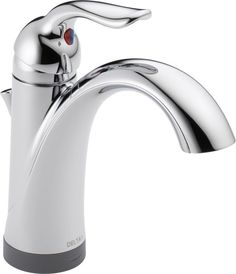 Delta 538T-DST Lahara Single Hole Bathroom Faucet with On/Off Touch and Proximit Chrome Faucet Lavatory Single Handle