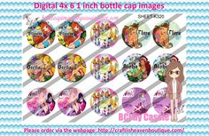 1' Bottle caps (4x6) digital winx K320 PLEASE VISIT http://craftinheavenboutique.com/AND USE COUPON CODE thankyou25 FOR 25% OFF YOUR FIRST ORDER OVER $10! #bottlecap #BCI #shrinkydinkimages #bowcenters #hairbows #bowmaking #ironon #printables #printyourself #digitaltransfer #doityourself #transfer #ribbongraphics #ribbon #shirtprint #tshirt #digitalart #diy #digital #graphicdesign please purchase via link http://craftinheavenboutique.com