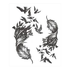 Temporary tattoos sticker Size: 115 mm × 160 mm Non-toxic Usually keeps days according to different size, temperature, body position and so on Tattoo Girls, Tattoo Son, Girl Tattoos, Tatoos, Feather With Birds Tattoo, Feather Tattoo Design, Feather Tattoos, Feather Tattoo Wrist, Sexy Tattoos