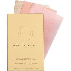 10/2/15: Mai Couture has mastered the art of beauty on-the-go with its incredibly easy-to-use line of pigmented blush (in 7 gorgeous shades), foundation, bronzer and highlighter papers. With the perfect amount of makeup infused in each sheet, you can forgo a brush, excess powder and messy touch-ups. And don't miss their handy blotting papers that have a touch of blemish-fighting salicylic acid. It gets better: everything on the site is 50 percent off with today's Lucky Break. Get glowing!