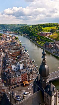 River Meuse in the Belgian province of Namur, Belgium