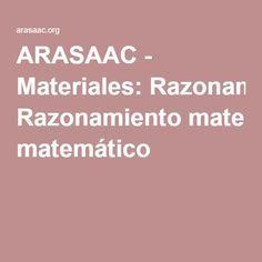 ARASAAC - Materiales: Razonamiento matemático