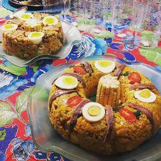 Já viram mais lindo? E muito muito bom! Como adoro comidas típicas juninas! Vai fazer uma festa? Pode me chamar! #featajunina #cuscuz