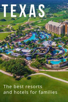 The best Texas resorts and hotels for families in Dallas, Austin, Houston, San Antonio, and Hill Country. From luxury dude ranches to water park hotels with lazy rivers. Family Vacations In Texas, Family Resorts, Best Resorts, Hotels And Resorts, Luxury Hotels, Family Travel, Luxury Travel, Resorts For Kids, Hotels For Kids