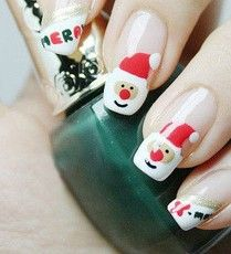 25 Christmas Nail Art Ideas & Designs That You Will Love - Daily Nail Arts Orange Nail Art, Neon Nail Art, Nail Art Kit, Neon Nails, Cute Nail Art, Glitter Nail Art, Diy Nails, Xmas Nails, Holiday Nails