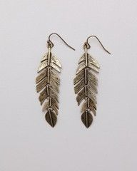 Delicate feather earings