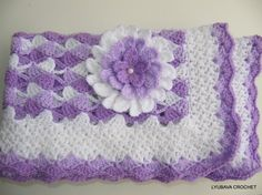 CROCHET PATTERN Baby Blanket Beautiful Lilac por LyubavaCrochet