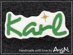Aufnäher Name mit Stern ♥ Applikation Weihnachten von AnCaNi auf DaWanda.com