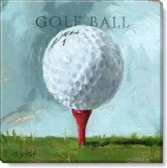 Golf Ball Painting by Darren Gygi Giclee 20 X Canvas Wall Art, Canvas Art Prints, Canvas Wall Art, Golf Painting, Painting Art, Golf Ball Crafts, Golf Art, Perfect Golf, Golf Quotes, Golf Gifts