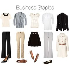 Business Staples by beigs on Polyvore (lose the skirt and make all the pants skinny and this is SO me)